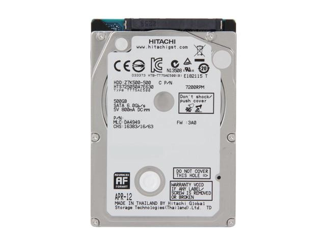 Hitachi Travelster 500GB Laptop HDD