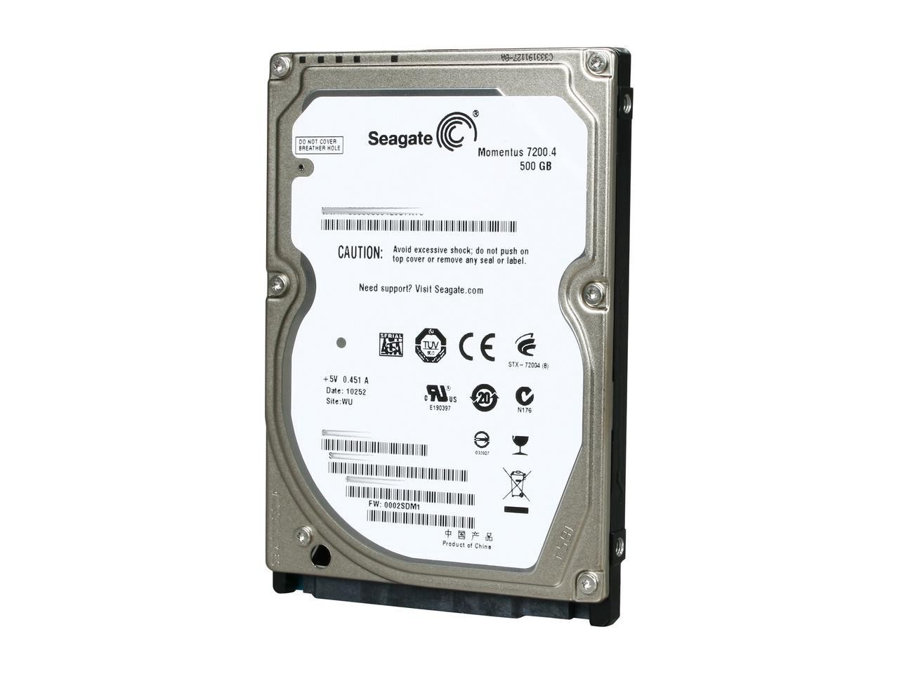 SEAGATE Momentus 500GB Laptop HDD