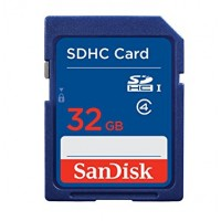 Sandisk 32GB SDHC Blue Label Memory Card For Digital Camera