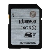 Kingston 16GB SDHC Memory Card Class 10 45MB/s UHS-I Ultra Speed SD Card