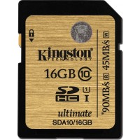 Kingston Ultimate 16GB SDXC 90MB/s 600X UHS-I Class SD Memory Card SDA10/16GB