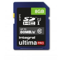 Integral 8GB Ultima Pro SDHC 80MB/S class 10 Memory Card Fast Speed SD Card