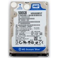 "WD WD5000BEVT 500gb 2.5"" Sata Laptop Hard Drive"
